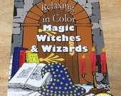 Relaxing in Color Magic, Witches, and Wizards Coloring Book for Adults and Big Kids Coloring Pages