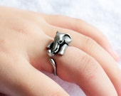 Elephant Ring. adjustable ring. antique silver ring. friendship ring. animal ring. everyday ring