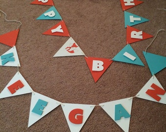 Fox themed Birthday Banner