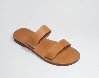 Leather sandals handmade ( Crete-Greece)