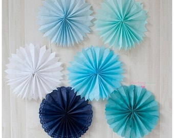 Tissue Fans Rosettes Hanging Tissue Pinwheels COLORS of your CHOICE Tissue Fan Medallions Party Decoration photo prop table backdrop Fan