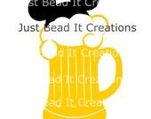 Mickey Mouse Inspired  Beer Die Cut File