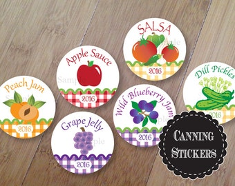 Canning Stickers, Personalized Garden Canning Jar Labels, Set of 20 Stickers, Canning Labels