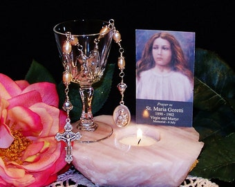 Unbreakable Catholic Chaplet of St. Maria Goretti - Patron Saint of Young Girls, Children and Rape Victims
