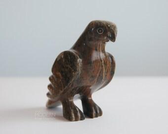 Asaina Adamee Inuit Falcon Bird Soapstone Figurine Sculpture