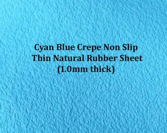 Natural Rubber Crepe Thin Sheets Cyan Blue, Waterproof Material, Shoe Soiling Rubber , Slipper Soiling,Moccasin Soiling,Baby Shoe Soiling