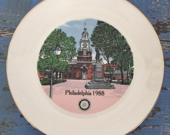 Vintage Souvenir Plate Philadelphia Pennsylvania Independence Hall
