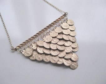 Coin Necklace Gold Tone Spring Fashion  FREE SHIPPING