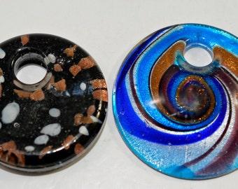 Murano style glass pendants, 2 colors - #1618
