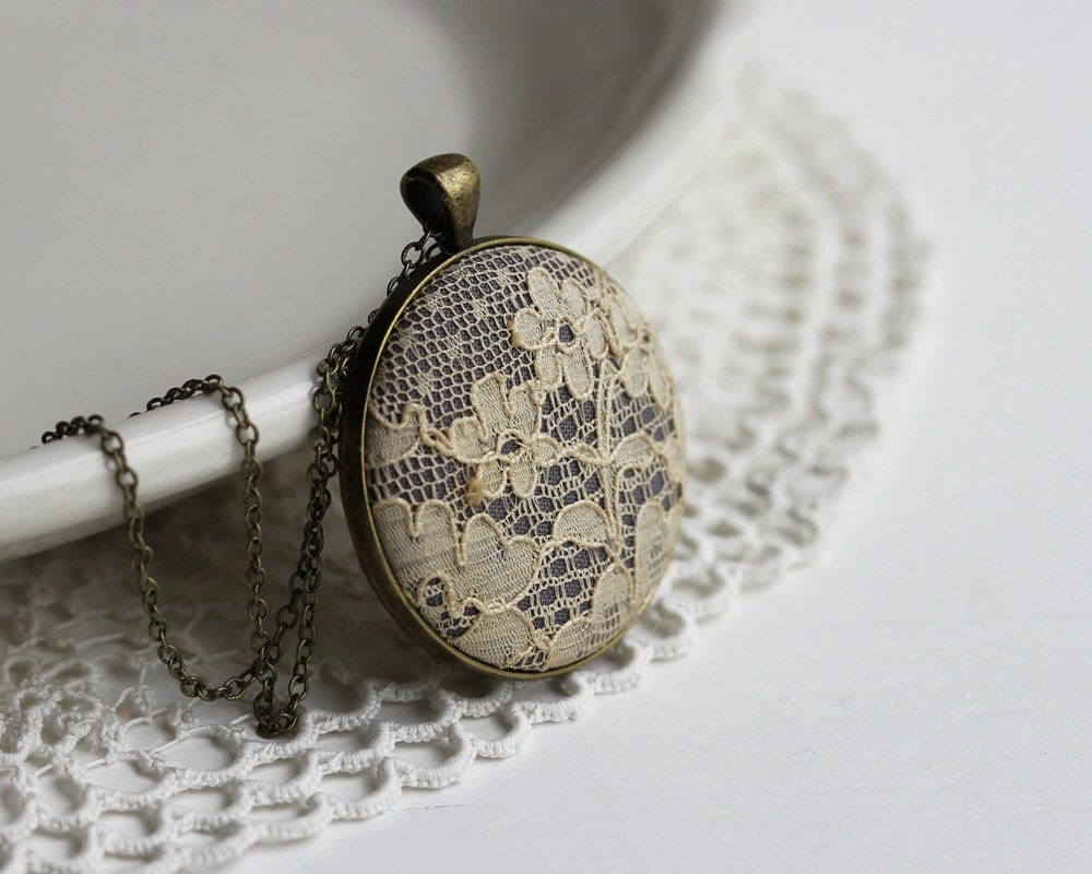 Beige Lace Necklace Unique Gift for Women Wife Mom by ...