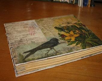 Purple Martin Bird Journal, Bird watcher book,  Guest Book, Wedding Gift,  Housewarming Gift, Baby book, Photo Album, Adventure book
