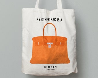 Tote Bag Hermès Birkin Bag - perfect gift! For all designer bags lovers!
