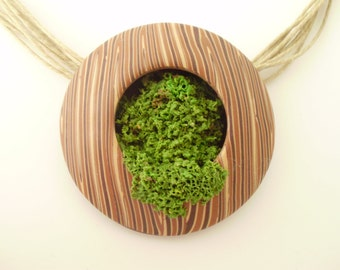 MOSS pendant Nature Polymer Clay Chic Original