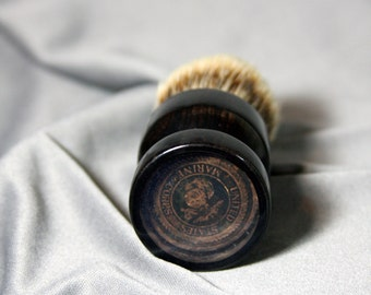 African Blackwood Super Silvertip Badger Hair Shaving Brush with Etched Brass Military Graduation Gift Marine Anchor Wet Shaving Ready2Ship