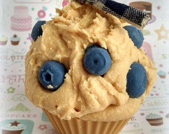 Blueberry Muffin Cupcake Candle