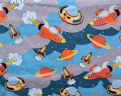 Flannel pants pajama dorm lounge made to order your choice size XS - 2X Space ships ufos and planets flannel prints
