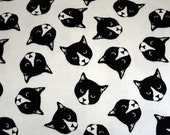 Black and white realistic cat faces print flannel pajama pants lounge dorm made to order your choice size XS - 2X