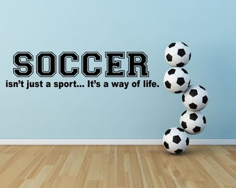 Soccer Wall Decal Etsy - Sporting wall decals