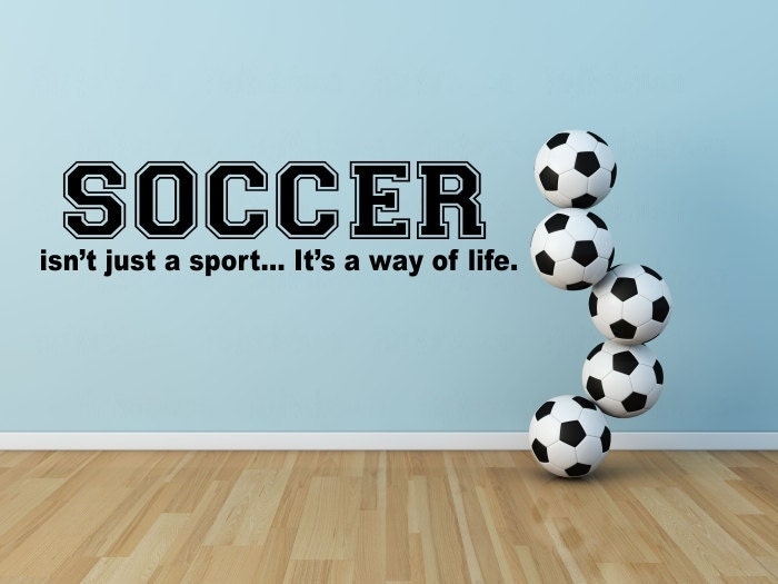 Soccer Wall Decal Soccer Vinyl Wall Decal By Vinylworks4u