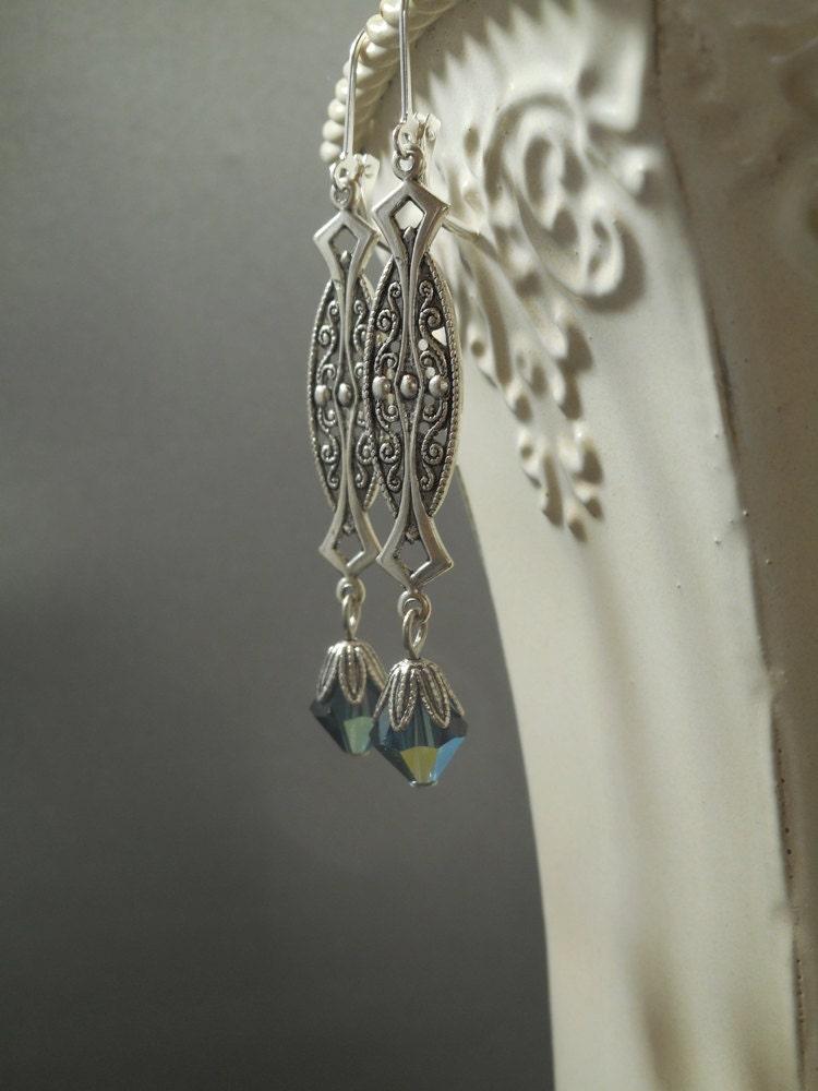 art deco earrings great gatsby jewelry september birthday