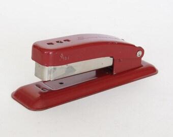 Small Red Metal Swingline Cub Stapler