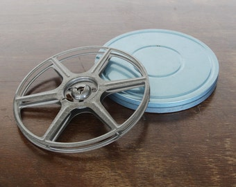 Metal 8mm Movie Film Reel and Can