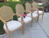 WEIMAN FAUX BOIS Arm Chairs with Cane Back / Pair of Faux Bois Chairs / Weiman Cane Chairs / 2 chairs at Retro Daisy Girl