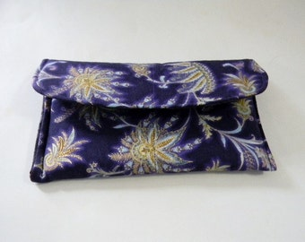 Purple Valley of the Kings Make-up Bag/Clutch