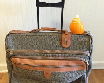 HARTMANN GARMENT BAG Rolling Luggage Tweed Hartmann Suitcase Luggage at Modern Logic