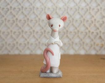 Lab Rat - Rat Figurine wearing a Laboratory Coat