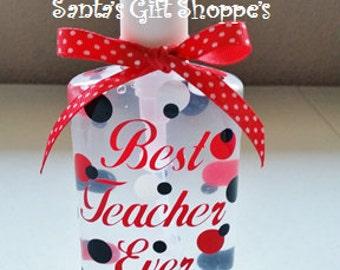 Teachers Personalized Hand Sanitizer - Teacher Gift -Teacher Appreciation -Children - School - Coach - Sports - Day Care Providers - Adults