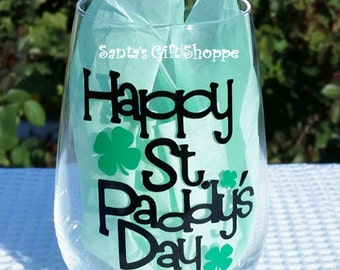 St. Patrick's Day, St. Paddy's Decals for Glass,  Vinyl Decal Stickers, Vinyl Decals,GLASS NOT INCLUDED, Shamrocks, Leprechauns