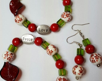 Flowers, Peace and Love Set
