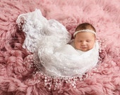 White Tassels Lace Baby Wrap Newborn Photography Prop