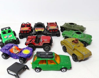 Match Box Die Cast Cars Jeep and Army Vehicles Mixed Lot 10 Vehicles Toys and Games Toys Play Vehicles Toy Cars Utility Vehicles