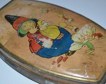 Rileys toffee tin - fairies - fairy tin box - Riley's candy - vintage collectible