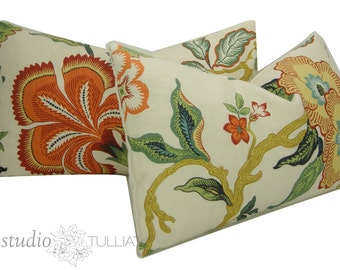 Set of Two - Hot House Decorative Pillow Covers - 14 x 24 - Floral - Lumbar - Spark - Schumacher Pillow - ready to ship