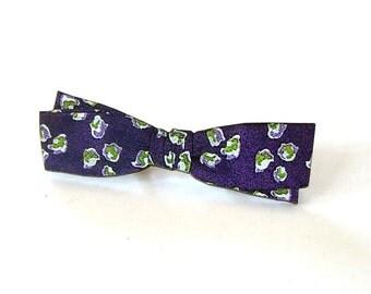 purple bow tie pin brooch