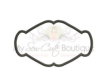 Frame Applique Design - 10 Sizes - Instant Download