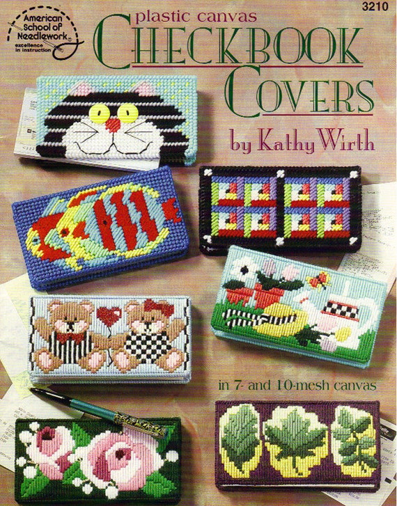 Cheque Book Cover Pattern ~ Plastic canvas checkbook covers pattern book by kathy wirth
