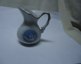 Vintage 1984 Louisiana World Exposition Creamer or Pitcher, May12-Nov11, collectable