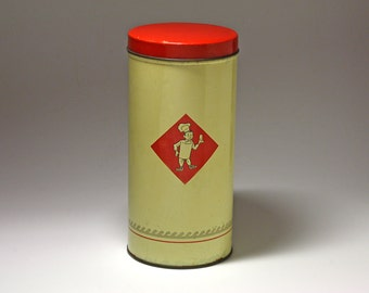 Vintage Cookie Tin for Bolletje Cookies - circa 1950's