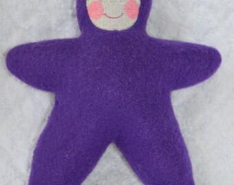 Handmade Purple Star Baby with light face Stuffed Plush Doll Softie