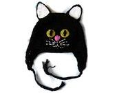 Black Cat Hat for Adult or Child