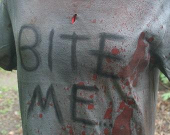 The Walking Dead - Bite Me OOAK Shirt