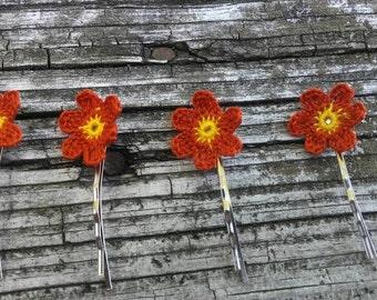 Bridal hair pins flower hair pins Hair slides Hair flowers Hair decorations Hair flower pin