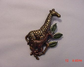 Vintage Metal Giraffe Brooch  16 - 19