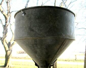 Hanging Vintage Funnel Planter