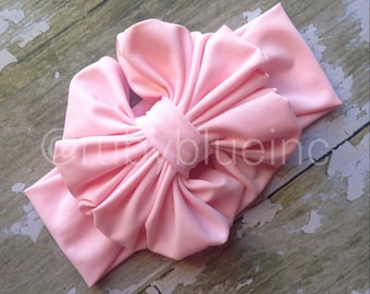 Messy Bow in Light Pink by Ruby Blue