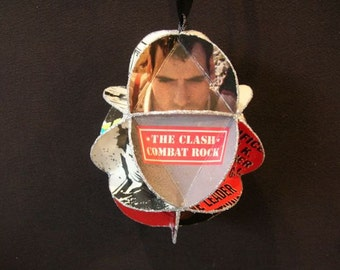 The Clash Album Cover Ornament Made Of Record Jackets -  Punk Rock Music